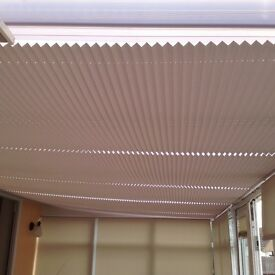 Conservatory pleated roof blinds