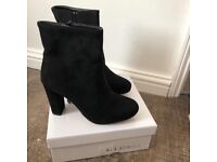 All Black High Heeled Boots
