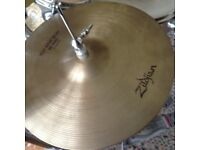 AVEDIS ZILDJIAN VINTAGE 1970s HI HAT CYMBALS 14 INCH ONE OWNER FROM NEW REDUCED TO JUST £200
