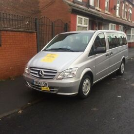 private hire taxi Mercedes Vito 9 seater minibus for sale