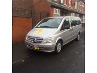 private hire taxi Mercedes Vito 9 seater minibus for sale