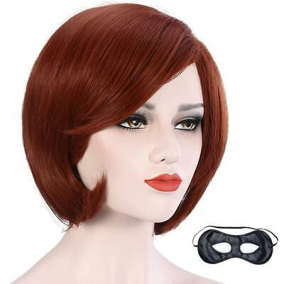 Halloween Costumes With Short Hair (CAMTOP Women Short Bob Hair Wig Anime Costume Halloween Cosplay Party Wig)