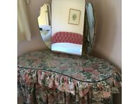 Vintage Kidney Shaped Dressing Table