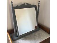 Mirror, grey painted pine
