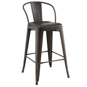 Gunmetal Counter Stool Sale-WO 7647 (BD-2530)
