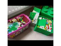 Lego Friends plus Green Brick Lego Box