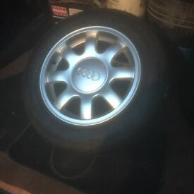 """15"""" Audi alloy wheels with has new tyres"""