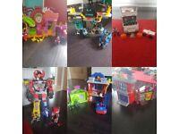 Kids imaginext sets. Batman centre, joker house, ambulane, spiderman & goblin house.