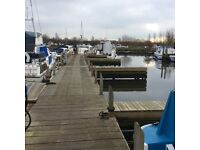Boat moorings with all the usual boatyard facilities.