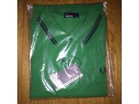 Brand new authentic men's Fred Perry short sleeve polo shirt