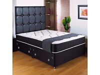 """Brand New Double Divan Base + 12"""" Thick Super Orthopaedic Mattress -- Get It Now"""