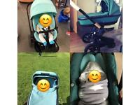 Quinny Modd travel system + ISO fix car seat base