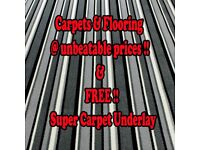 Carpets & Flooring!! Best Prices Guaranteed! FREE Super Underlay with any fitted carpet.