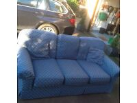 3 seater sofa navy fabric REDUCED now £50