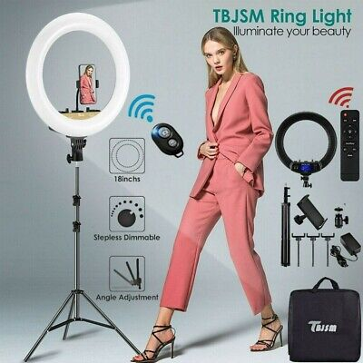 """18"""" LED Ring Light Kit with Stand Dimmable 6000K For Camera Makeup Phone USA"""
