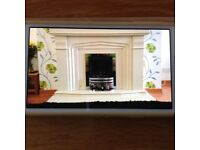 Micro Marble fireplace & hearth.