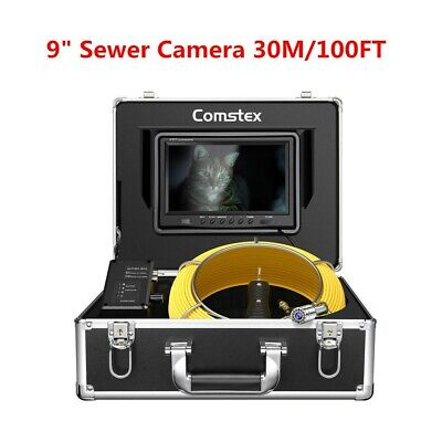 30m 100ft 9inch 1000tvl Ip68 Pipe Pipeline Inspection System Sewer Camera Video