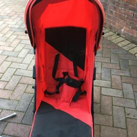 Silver cross salsa red buggy