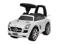 Mercedes Benz Foot-Powered Kids Car White- NEW