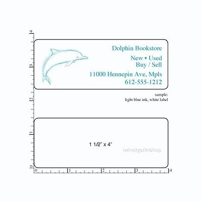 Custom Printed Stickers 250 Rectangle Business Labels 1-color Ink 1-12 X 4