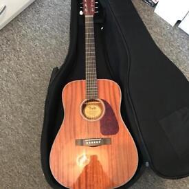 Fender Acoustics CD-60 All Mahogany DS guitar + padded case.