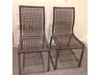 TWO WHICKER CHAIRS