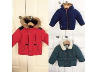 Next and M&S boys winter coats