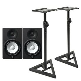 Yamaha HS7 Studio Monitors (PAIR) w/ stands and cables