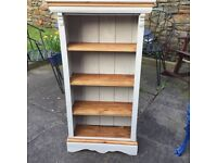 Rustic shabby chic Bookcase in Paris Grey
