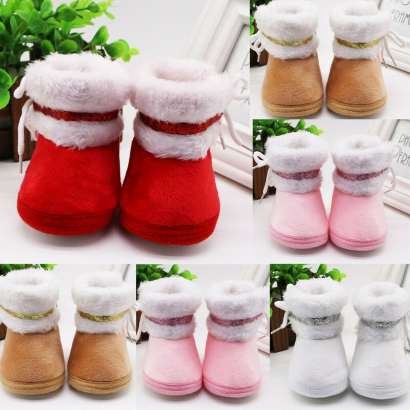 Infant Newborn Baby Girls Cashmere Plush Winter Warm Boots B