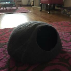 Handmade felted cat bed - beautiful