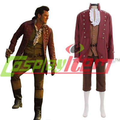 2017 Beauty And The Beast Gaston Cosplay Costume custom made Halloween cosplay