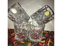 Crystal Whiskey Tumblers X5 New but NO boxed Cristallo Al Piombo 24%