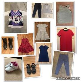 GIRLS SMALL BUNDLE OF CLOTHES SOME WITH TAGS AGE 7-8 UPWARDS