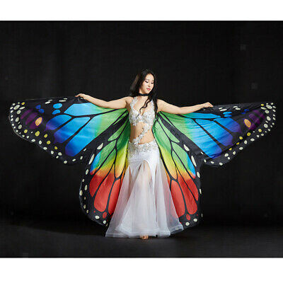 Egypt Belly Dance Wing Colorful Butterfly Angel Isis Wings Costume - Isis Costume Halloween