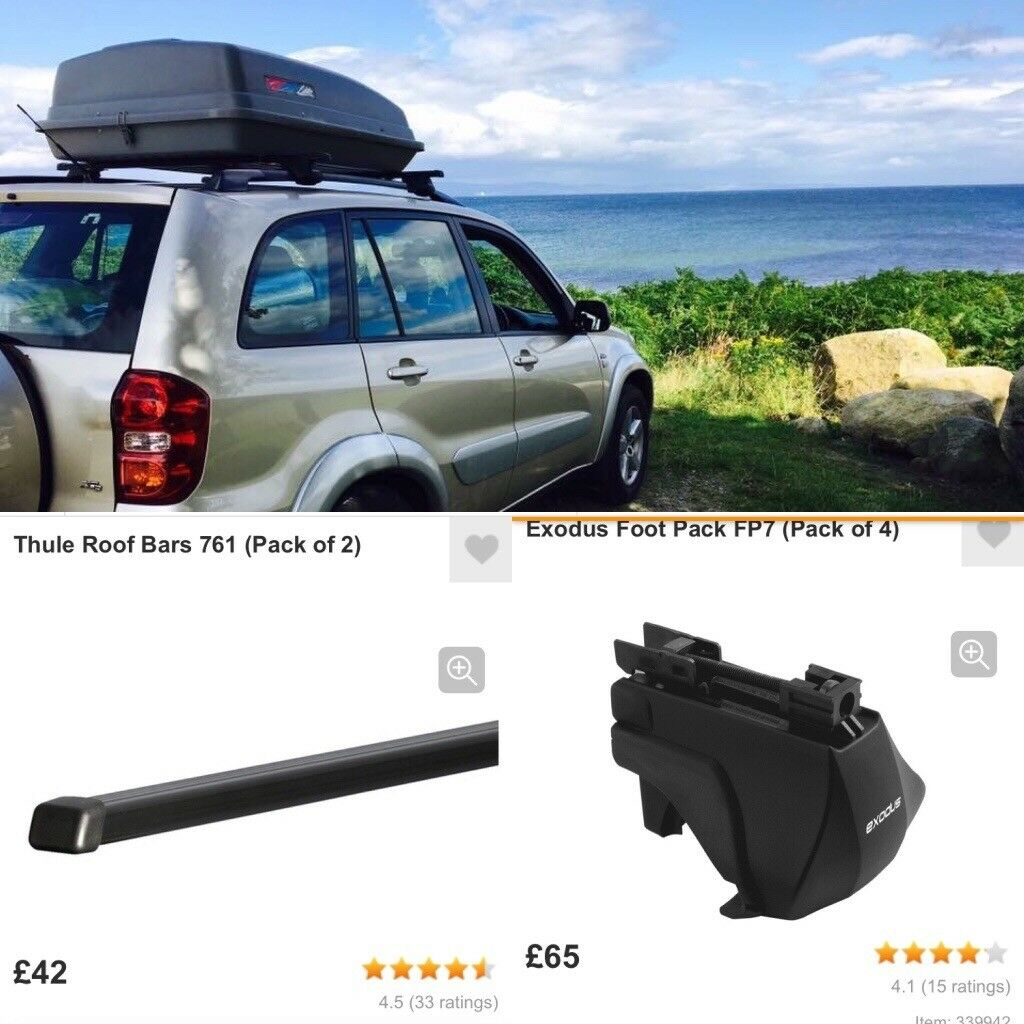 halfords roof box thule roof bars with exodus feet in. Black Bedroom Furniture Sets. Home Design Ideas