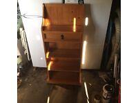 Small pine bookshelf