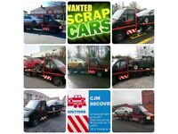 Recovery service from £30. Cash for scrap cars.