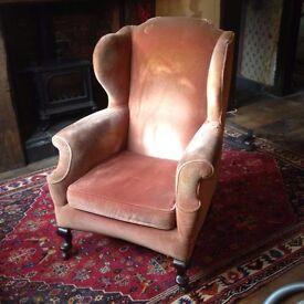 Large antique armchair