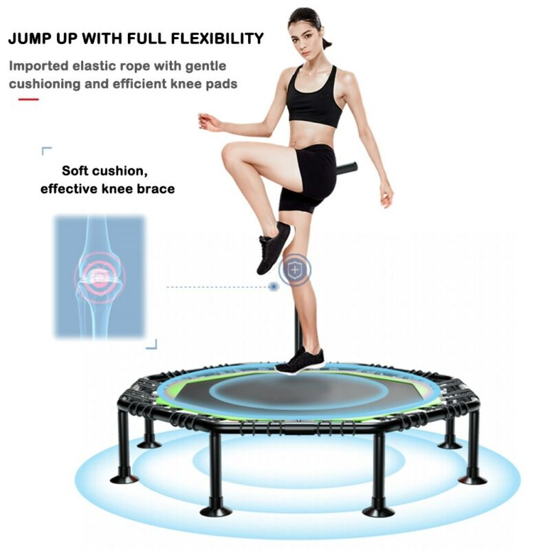 Foldable Mini Fitness Trampoline Rebounder Exercise Workout