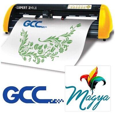 New Gcc Expert Lx 24 Vinyl Cutter Plotter W Free Software Free Shipping