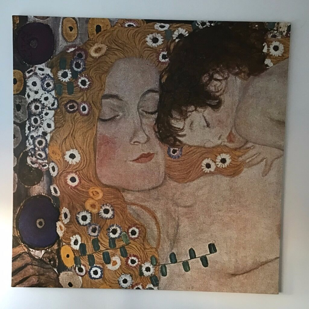 Large Ikea Print Canvas Wall Art By Klimt Mother And Child