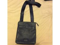 Leather Hugo Boss shoulder pouch