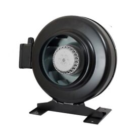 """Hydroponics Metal Circular Inline Duct Extractor Fan Air Control 4"""" / 100mm"""