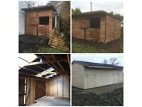 Field shelters and stables