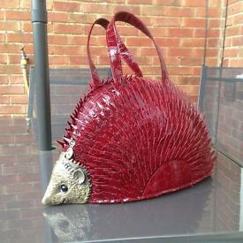 Stunning Red hedgehog hand bag with strap- £25 Collect Fareham Po15