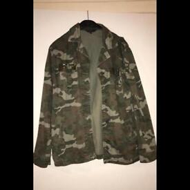 Womens green camouflage jacket