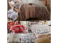 HEAVY WINTER WARM HOLLOW FIBRE QUILT BEDDING LUXURY BEDSHEET DUVET, 2x PILLOW COVERS