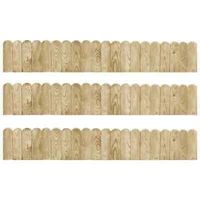 vidaXL 3x Border Rolls 120cm Impregnated Pinewood Garden Patio Lawn Edge Fence