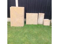Indian sandstone slabs brand new never used £85 Ono tel 07966921804